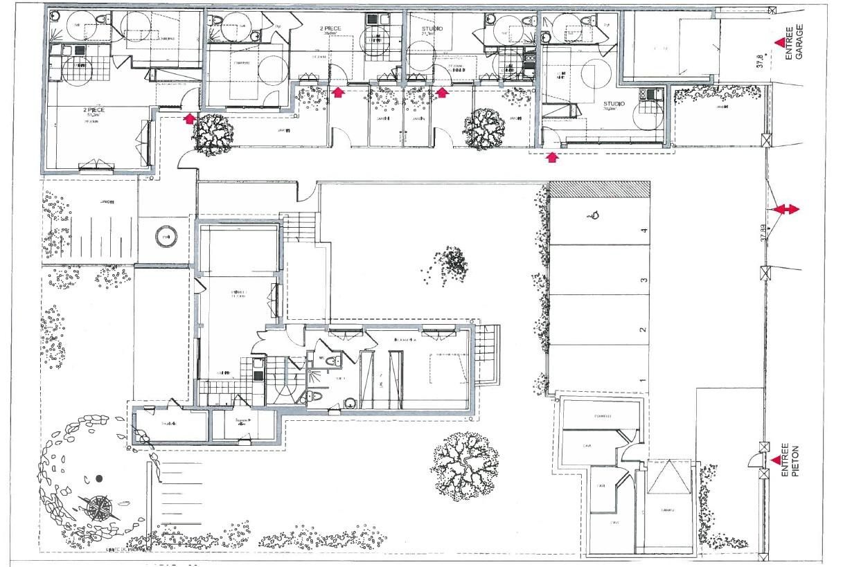 4 appartements de 30 a 54m² 3050€ hc mois